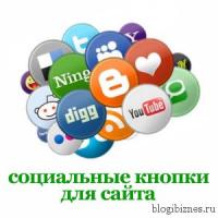 Кнопки социальных сетей и сервисов для сайта на WordPress