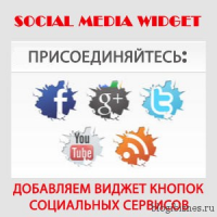 Социальный плагин WordPress Social Media Widget. Кнопки для приглашения друзей