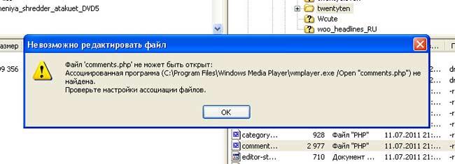 Редактирование файлов в FileZilla_Redaktirovanie v FileZilla