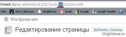 ID страницы