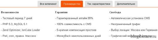 Преимущества хостинга adminvps.ru