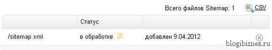 Sitemap добавить в Яндекс
