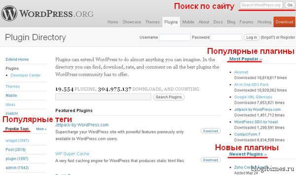 Где скачать плагины для WordPress