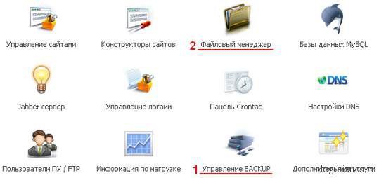 Панель управления хостингом TimeWeb