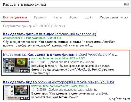 ТОП поисковой выдачи Google
