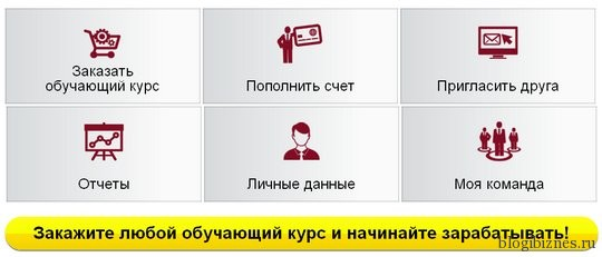 Личный кабинет на сайте www.winnersacademy.ru