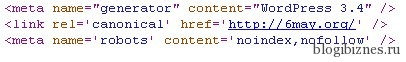 Запрет индексации страницы в мета robots
