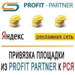 Привязка площадки из Profit Partner к логину на Яндексе