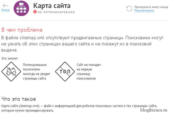 Ошибки xml-карты сайта