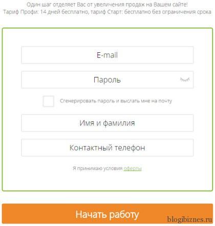 Регистрация на сайте cleversite.ru