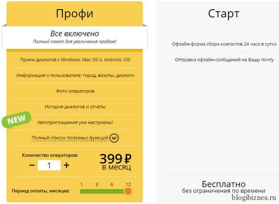 Тарифы сервиса Cleversite