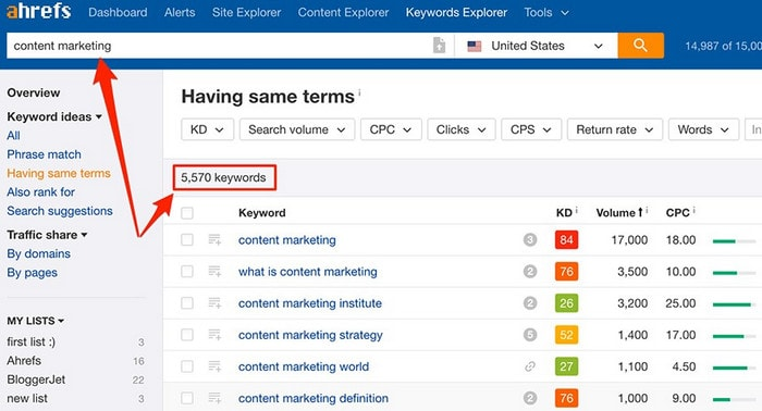 ahrefs-keywords-explorer